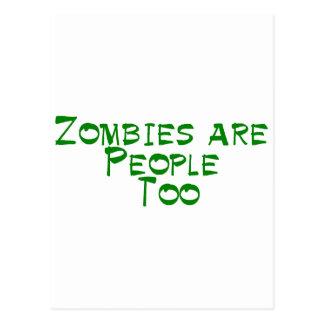 Los zombis son gente también postales