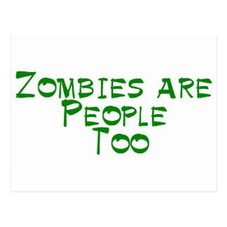 Los zombis son gente también postal