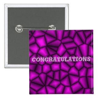Losa violeta chapa cuadrada 5 cm