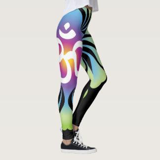 Loto de las polainas de la yoga de OM Leggings