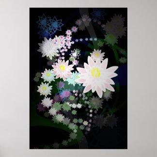 Lotus blanco póster