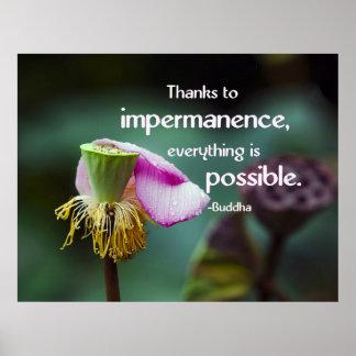 Lotus/cita de la sabiduría de Instabilidad-Buda Impresiones