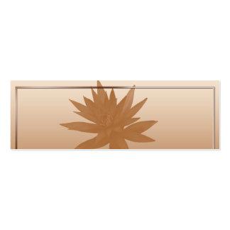 Lotus de bronce en Brozne y el oro Placecard Plantillas De Tarjeta De Negocio