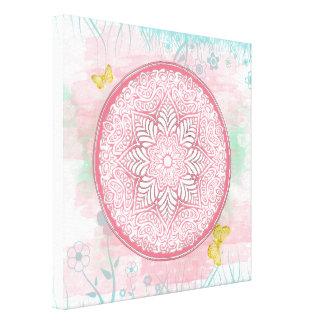 ~ Lotus de la MANDALA de la primavera - lona Lienzo