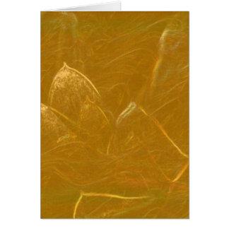 Lotus de oro grabó al agua fuerte el modelo barato tarjeta de felicitación