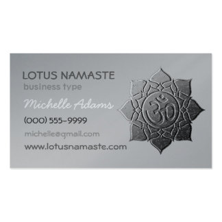Lotus Namaste OM Aum Plantillas De Tarjetas De Visita