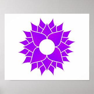 Lotus púrpura póster