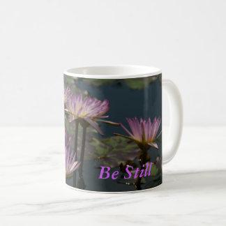 Lotus púrpura Waterlilies Taza De Café