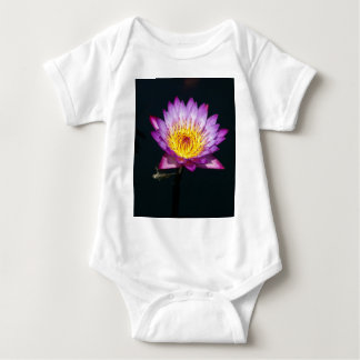 Lotus púrpura Waterlily y mono de la ninfa de la Body Para Bebé