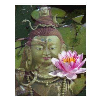 Lotus y aviador de Buda Folleto 21,6 X 28 Cm