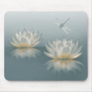 Lotus y cojín de ratón de la libélula alfombrilla de ratón