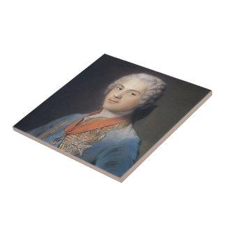 Louis de Francia de Maurice Quentin de La Tour Teja Ceramica