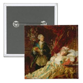 Louis XV y señora Dubarry Chapa Cuadrada 5 Cm