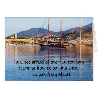 Louisa puede CITA inspirada de Alcott Tarjeta De Felicitación