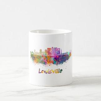 Louisville V2 skyline in watercolor Taza De Café