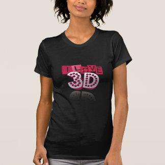 Love-3d- (negro) camiseta