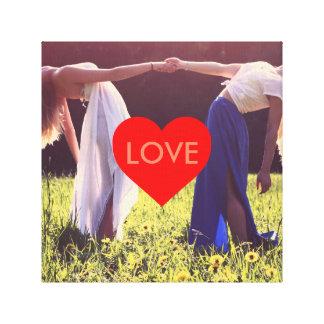 """Lienzo """"Love"""" corazón lienzo (Enmarcable)"""