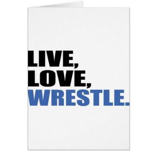 Love en vivo y en directo Wrestle Felicitación