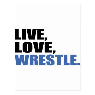 Love en vivo y en directo Wrestle Postales
