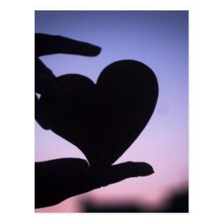 Love heart shape in hands photograph romantic vale postal