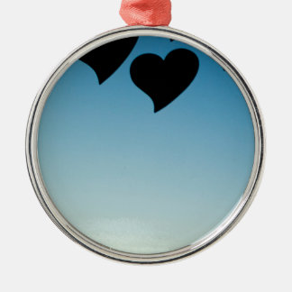 Love hearts shapes photograph romantic valentines adorno navideño redondo de metal