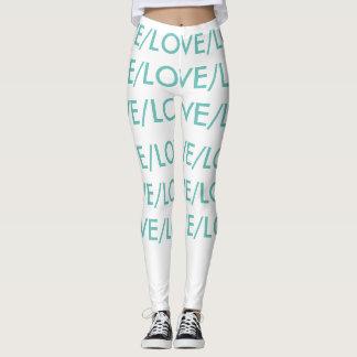 LOVE/LOVE, blanco y polainas del trullo Leggings