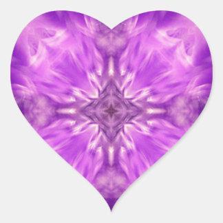 Love_ púrpura pegatina en forma de corazón