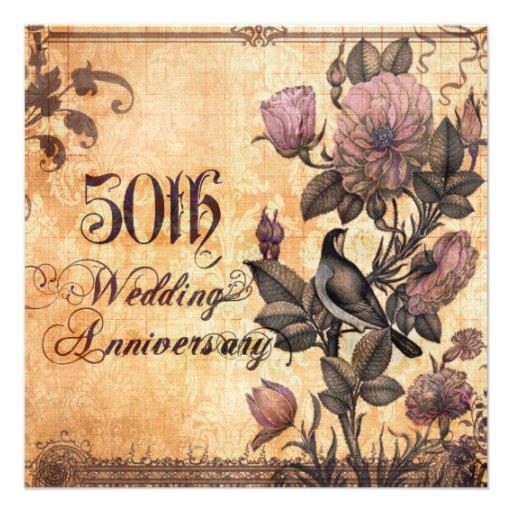 Lovebird con aniversario de boda de los rosas 50.o anuncios