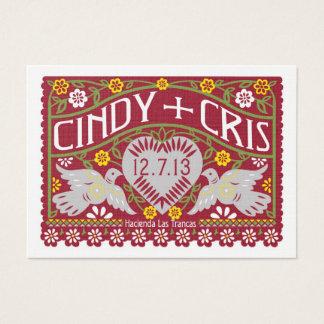 Lovebirds que casan a españoles de la tarjeta del