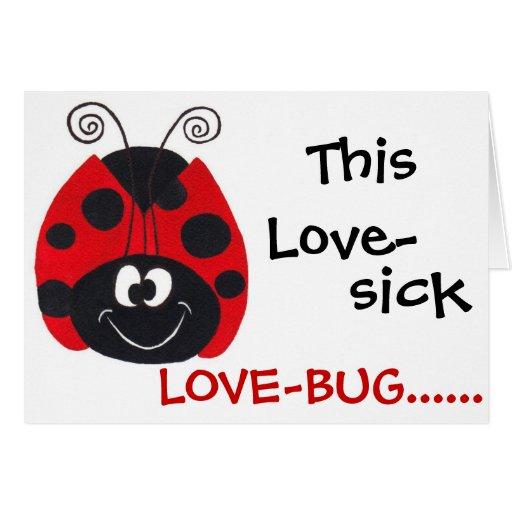 Lovebug locamente enamorado - tarjeta del el día d