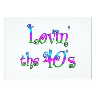 Lovin los años 40 invitación
