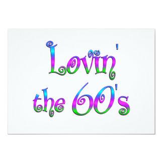 Lovin los años 60 invitación 12,7 x 17,8 cm