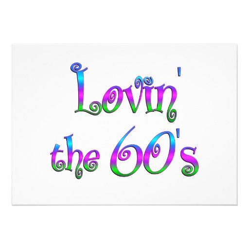 Lovin los años 60 invitación personalizada