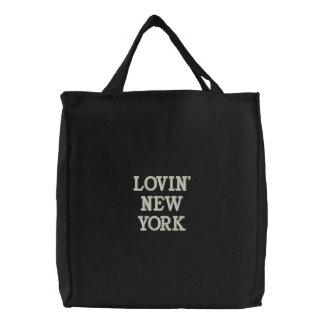 ¡LOVIN NUEVA YORK - las vagabundas bordadas se ref Bolsa