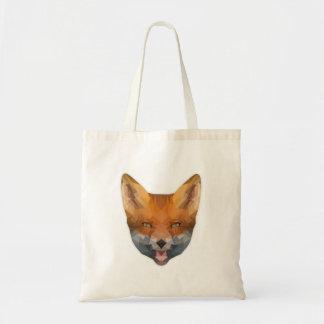 Low Poly perro raposero Bag Bolso De Tela