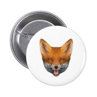 Low Poly perro raposero Button Chapa Redonda De 5 Cm