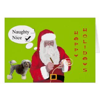 Lowchen, Santa que crea la lista traviesa o Niza Tarjeta