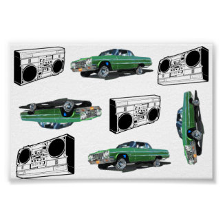 Lowrider y poster de Boomboxes