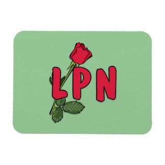 LPN subió Imán Rectangular
