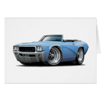 Lt 1968 de Buick GS Blue Convertible Tarjeta De Felicitación