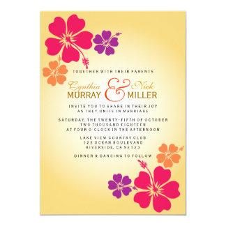 Luau/boda hawaiano invitación 12,7 x 17,8 cm