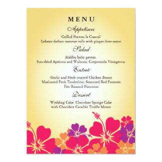 Luau/menú hawaiano del boda invitación 16,5 x 22,2 cm