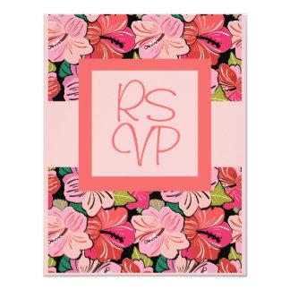Luau que casa la tarjeta de la invitación de RSVP