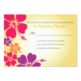 Luau/RSVP que se casa hawaiano Invitación 12,7 X 17,8 Cm