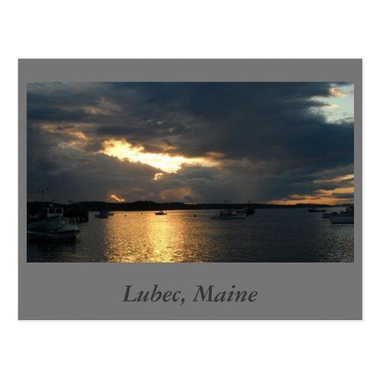 Lubec en la postal de la puesta del sol