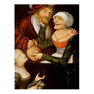 Lucas Cranach la anciano el Procuress Tarjeta Postal