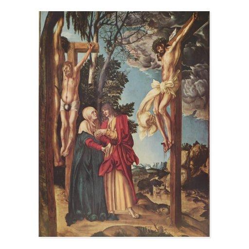 Lucas Cranach la anciano la crucifixión Tarjeta Postal