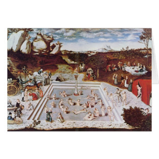 Lucas Cranach la anciano la fuente de la juventud Tarjeta
