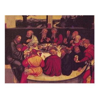 Lucas Cranach la anciano la última cena Postales