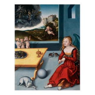 Lucas Cranach la más vieja melancolía Postal